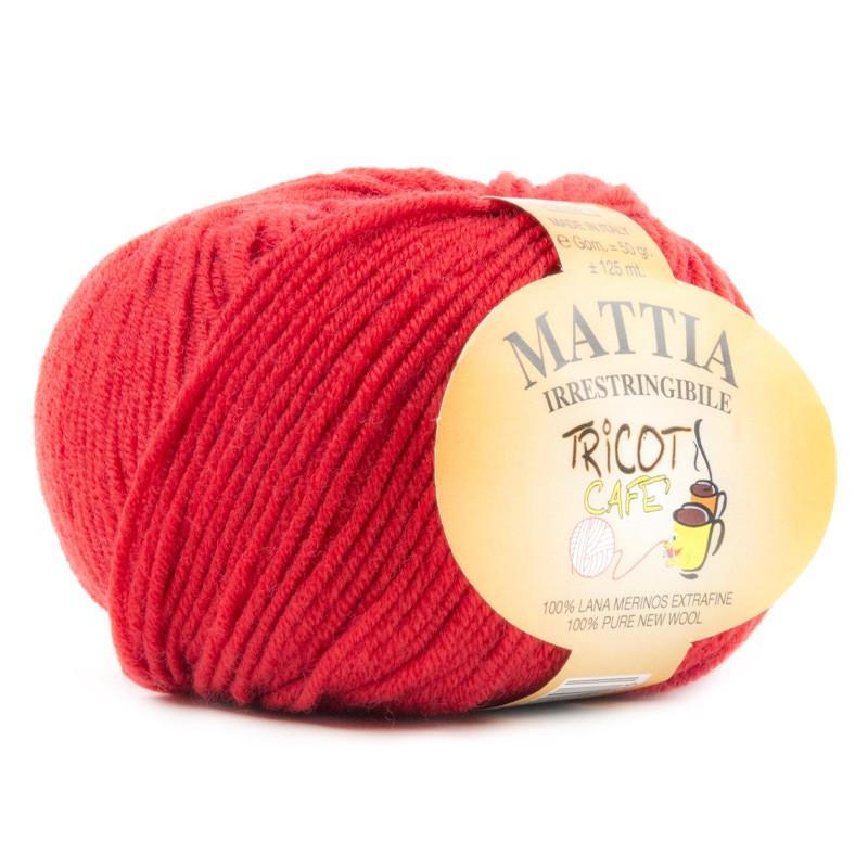 Mattia - Filato Pura Lana Merinos Irrestringibile ideale per neonati - Rosso 15