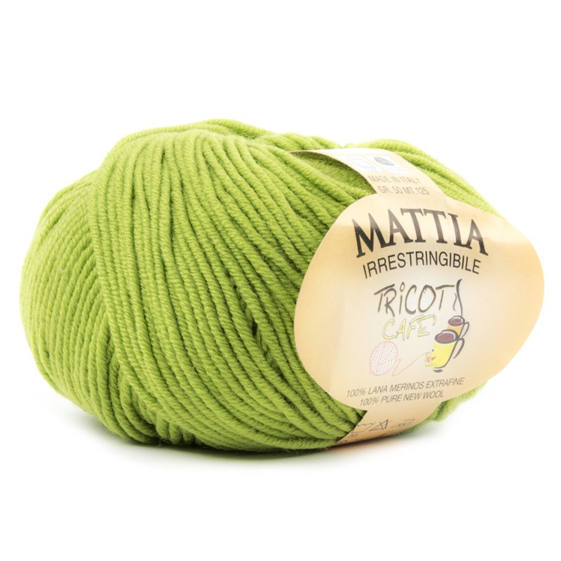 Mattia - Filato Pura Lana Merinos Irristringibile ideale per neonati - Verde Acido 21