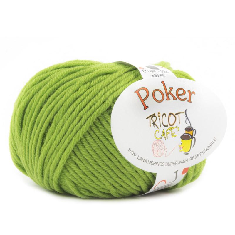 Poker - Filato Pura Lana Merinos Irrestringibile ideale per neonati - Verde Acido 21