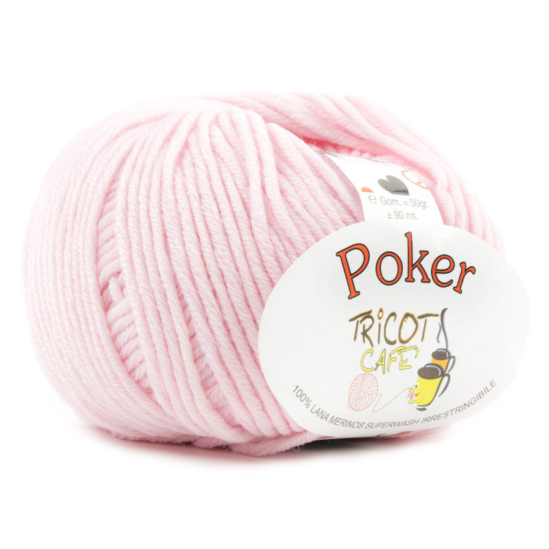 Poker - Filato Pura Lana Merinos Irrestringibile ideale per neonati - Rosa Baby 9