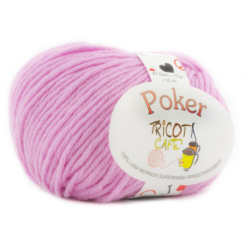 Poker - Filato Pura Lana Merinos Irrestringibile ideale per neonati - Rosa 10