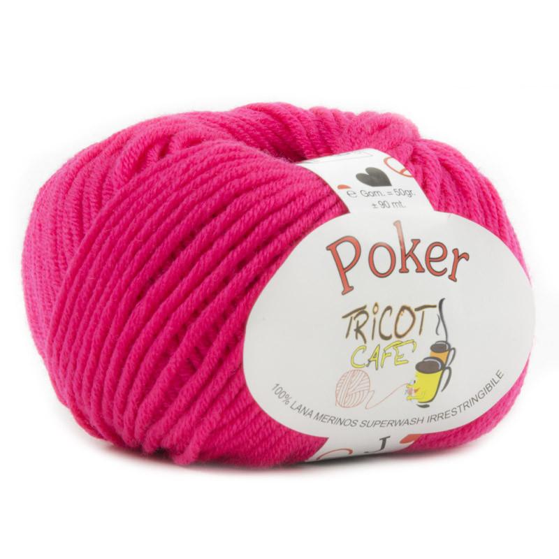 Poker - Filato Pura Lana Merinos Irrestringibile ideale per neonati - Fucsia 12