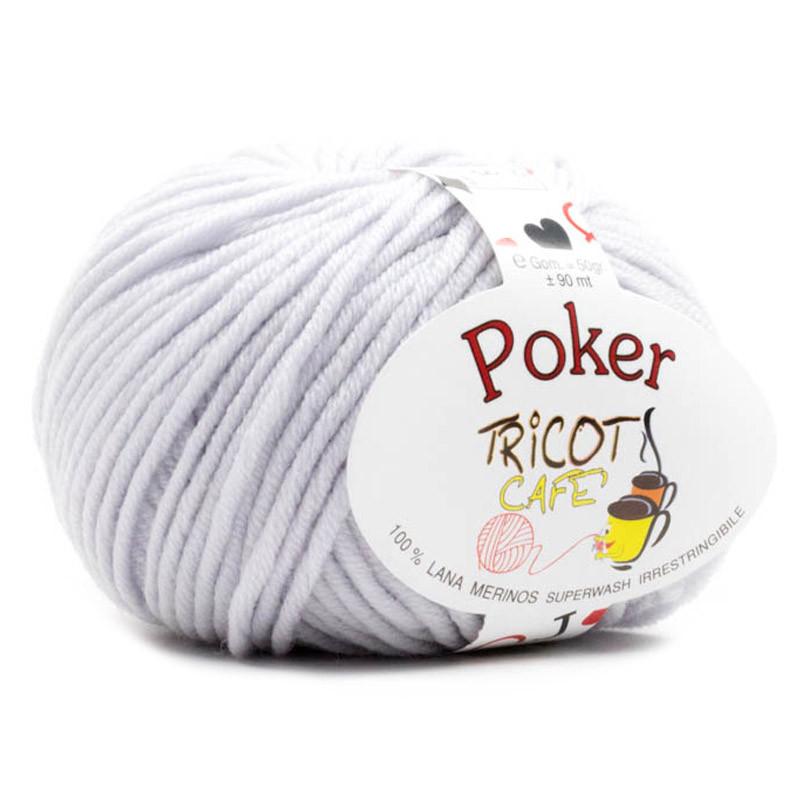 Poker - Filato Pura Lana Merinos Irrestringibile ideale per neonati - Grigio Perla 6/610