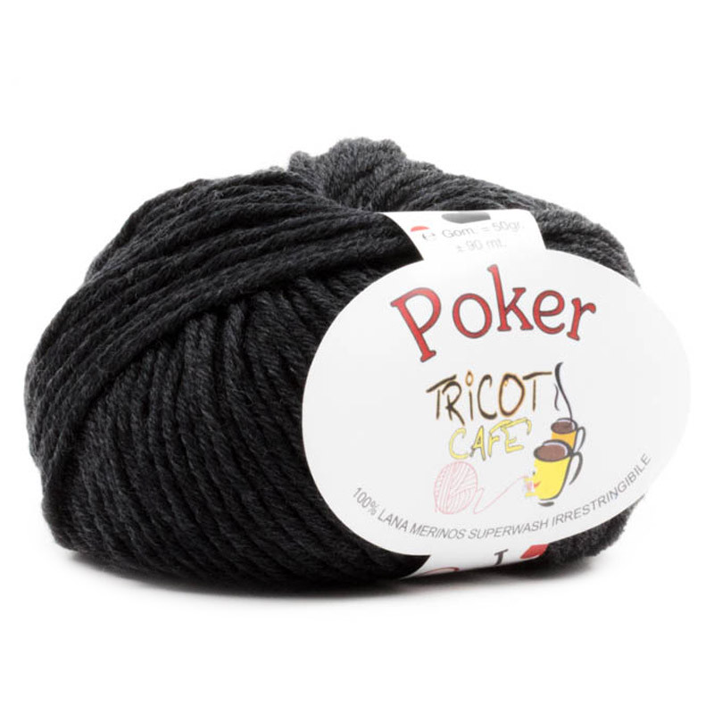 Poker - Filato Pura Lana Merinos Irrestringibile ideale per neonati - Grigio Antracite 8