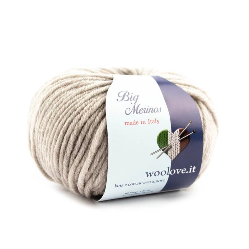 Big Merinos pura lana merino extrafine irrestringibile colore Tortora 411