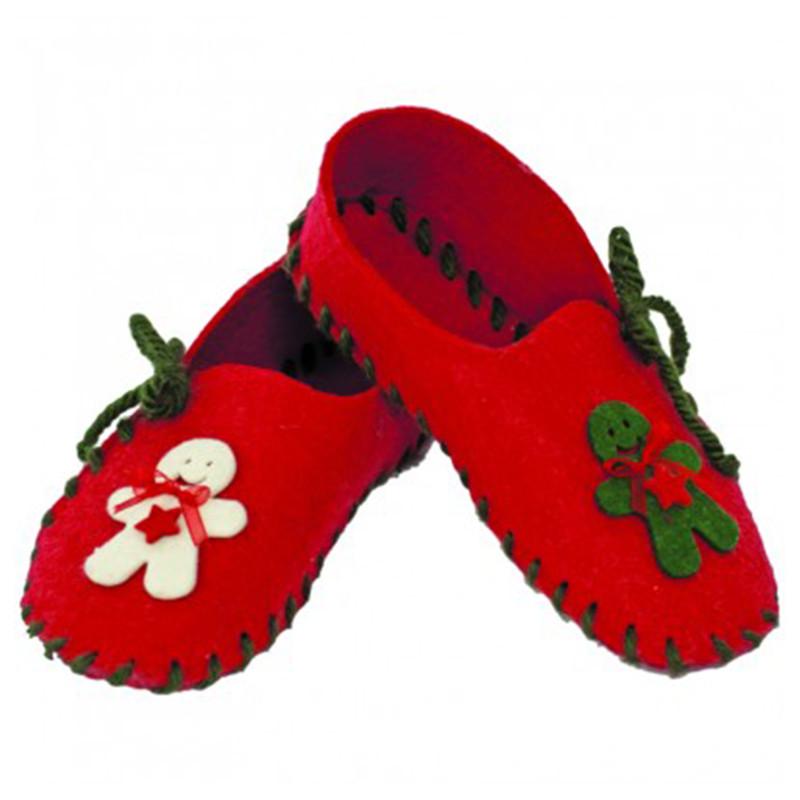 Cartamodello pantofole feltro