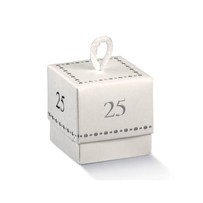 Scatola portaconfetti 25° anniversario