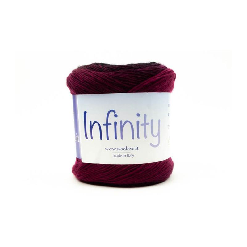 Infinity - Filato pura lana merinos con effetto degradé - Misto Fucsia 29