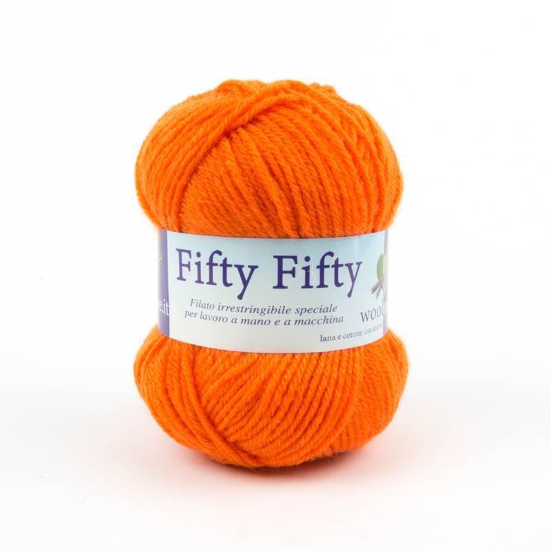 Fifty-Fifty - Filato misto lana indistruttibile adatta anche ai piu inesperti - Arancione 18