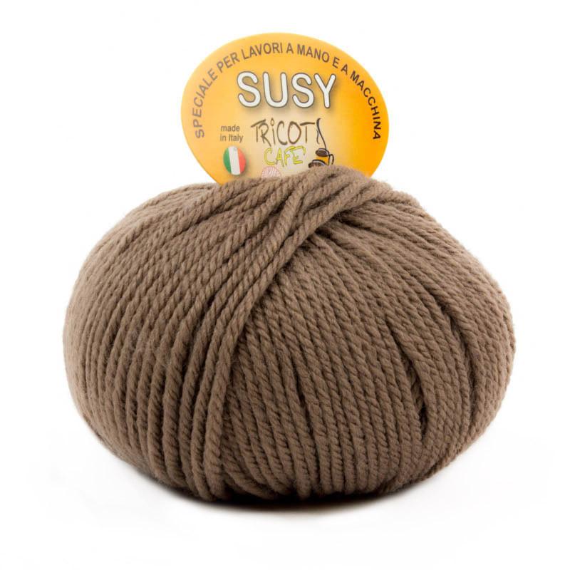 Susy - Filato misto lana merinos speciale per lavori a mano e a macchina - Tortora Chiaro 33