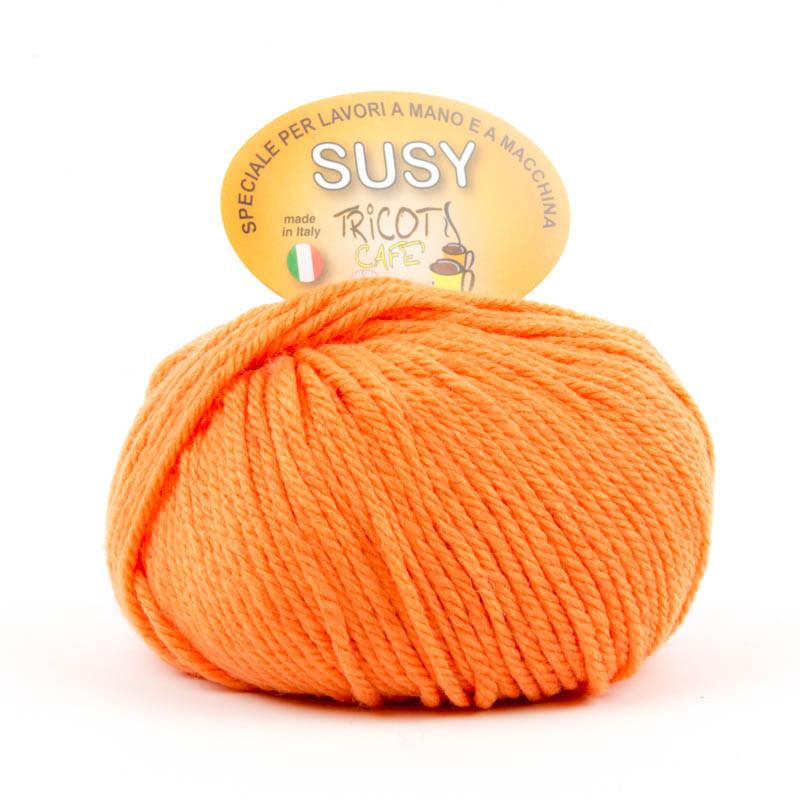 Susy - Filato misto lana merinos speciale per lavori a mano e a macchina - Arancione 4