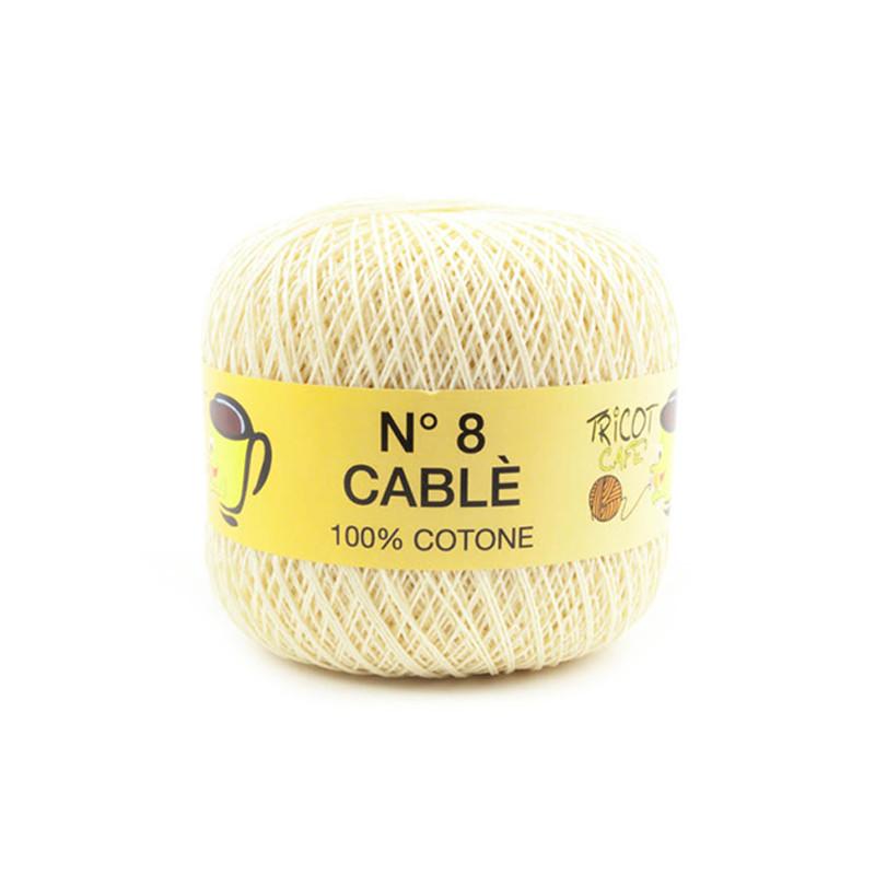 Cable 8 - Filato Puro Cotone mercerizzato antipilling extrabrillante - Beige chiaro 8398