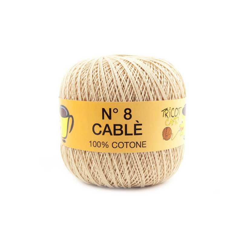 Cable 8 - Filato Puro Cotone mercerizzato antipilling extrabrillante - Beige 9459