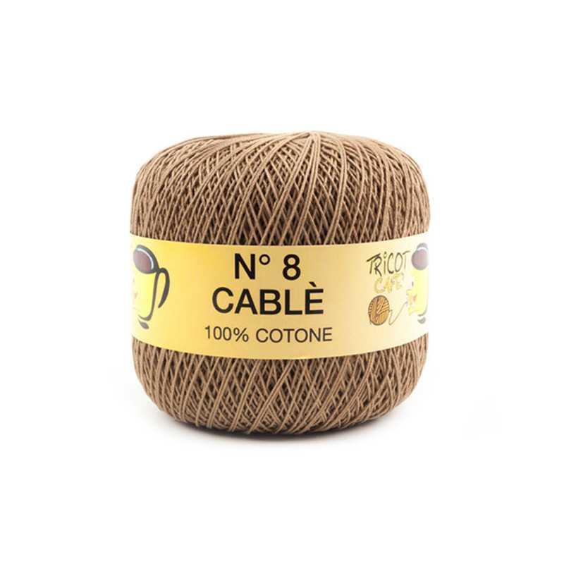 Cable 8 - Filato Puro Cotone mercerizzato antipilling extrabrillante - Noce 90469