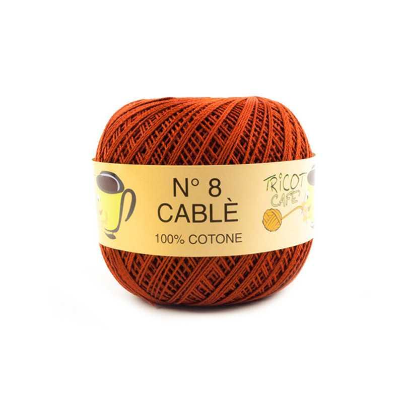 Cable 8 - Filato Puro Cotone mercerizzato antipilling extrabrillante - Bruciato 51