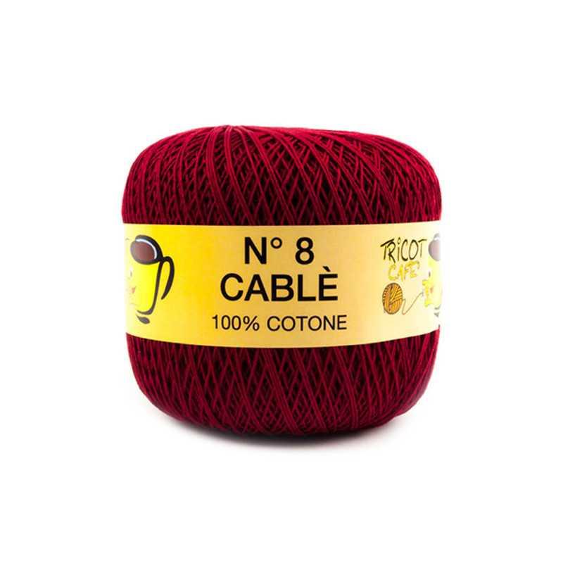 Cable 8 - Filato Puro Cotone mercerizzato antipilling extrabrillante - Bordeaux 9811