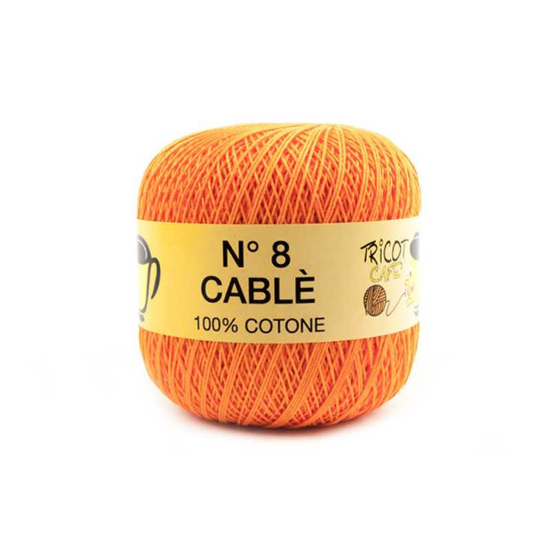 Cable 8 - Filato Puro Cotone mercerizzato antipilling extrabrillante - Arancione 89169