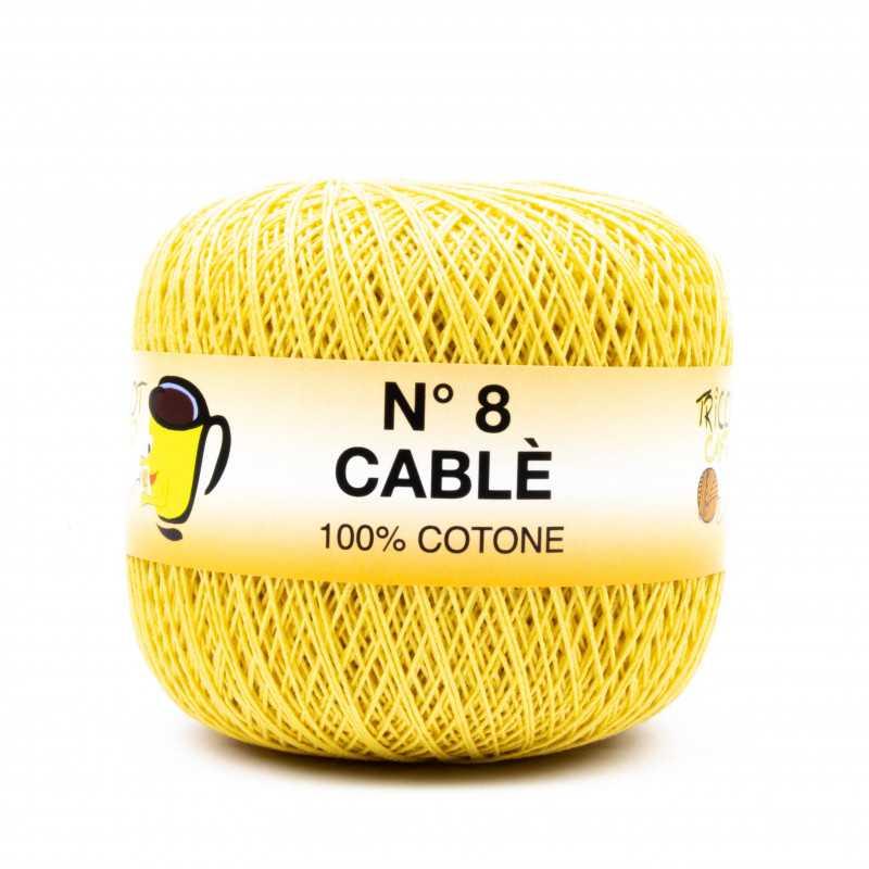 Cable 8 - Filato Puro Cotone mercerizzato antipilling extrabrillante - Giallo Senape 98265