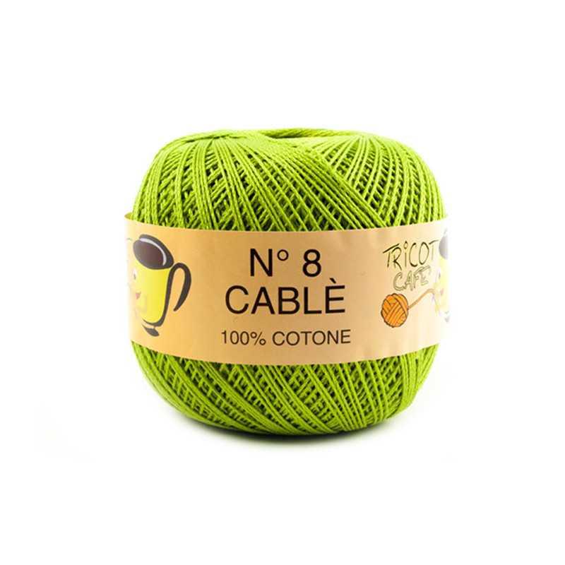 Cable 8 - Filato Puro Cotone mercerizzato antipilling extrabrillante - Verde Acido 287