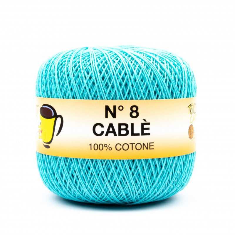 Cable 8 - Filato Puro Cotone mercerizzato antipilling extrabrillante - Tiffany 98430