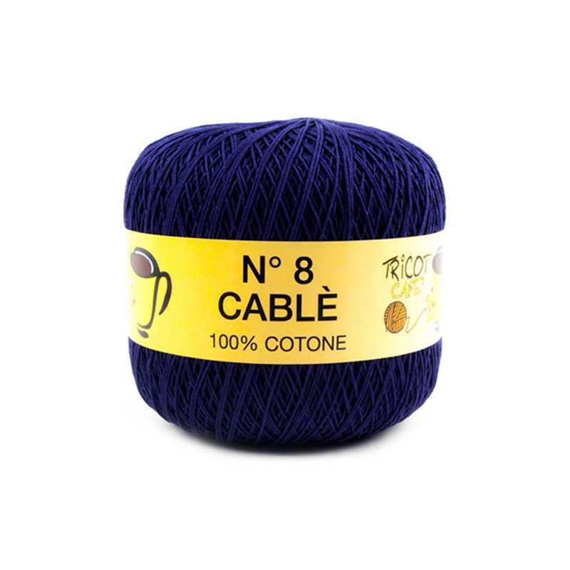 Cable 8 - Filato Puro Cotone mercerizzato antipilling extrabrillante - Blu 88819