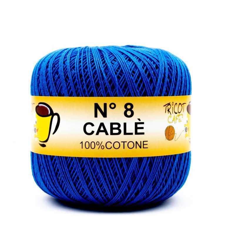 Cable 8 - Filato Puro Cotone mercerizzato antipilling extrabrillante - Blu Elettrico 8394