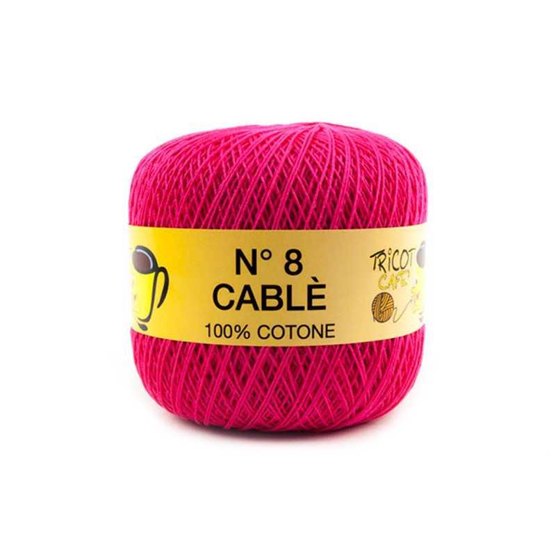 Cable 8 - Filato Puro Cotone mercerizzato antipilling extrabrillante - Fucsia 9417