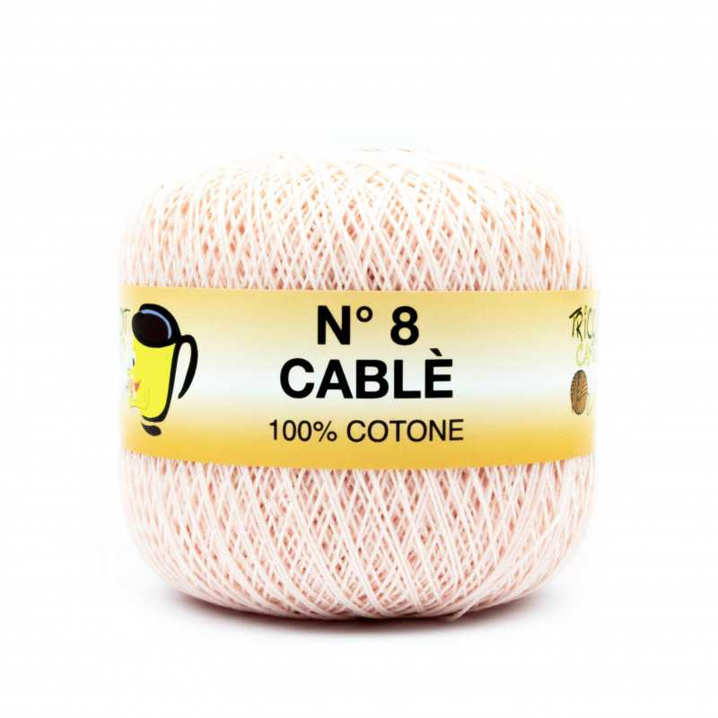 Cable 8 - Filato Puro Cotone mercerizzato antipilling extrabrillante - Rosa 9449