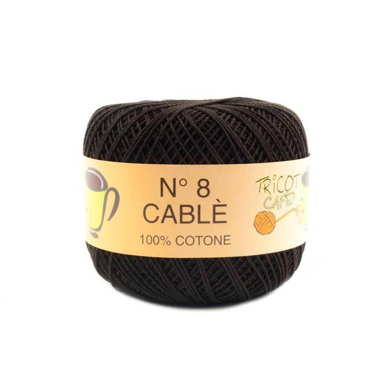 Cable 8 - Filato Puro Cotone mercerizzato antipilling extrabrillante - Testa di Moro 97