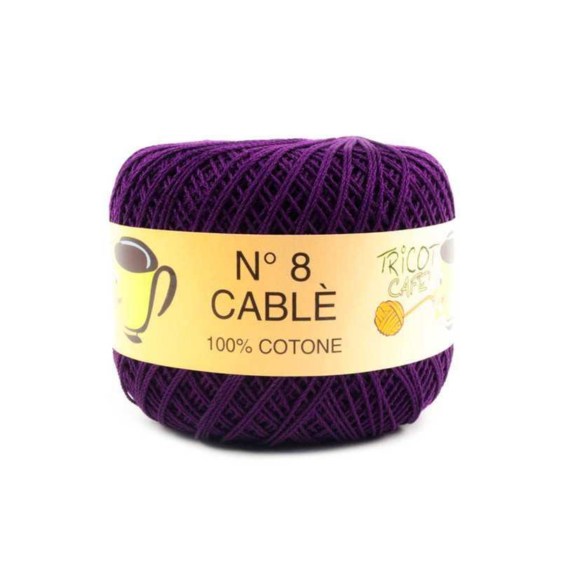Cable 8 - Filato Puro Cotone mercerizzato antipilling extrabrillante - Viola 44