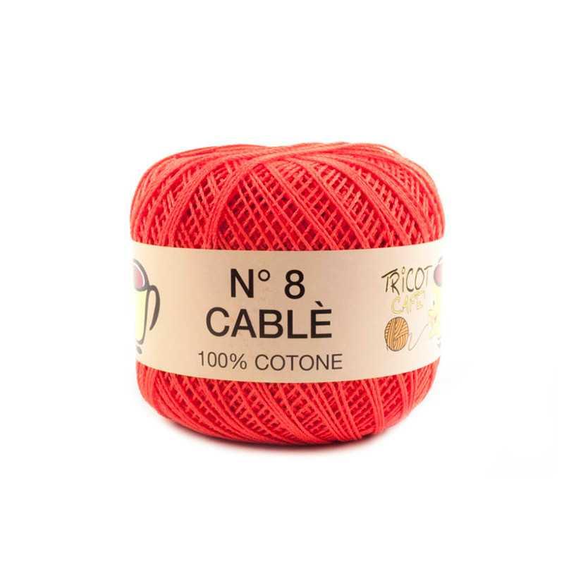 Cable 8 - Filato Puro Cotone mercerizzato antipilling extrabrillante - Salmone 63