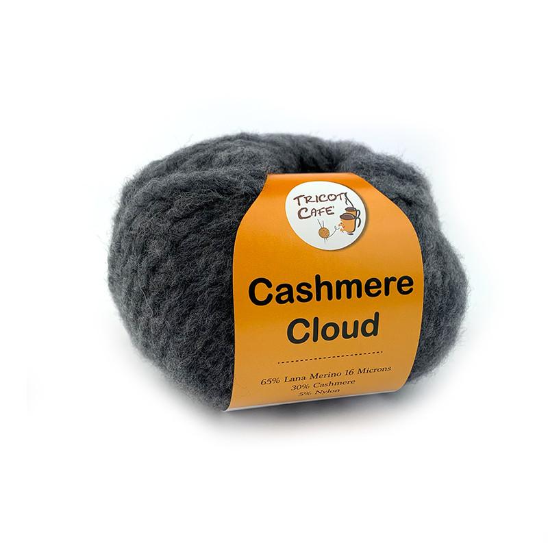 Cashmere Cloud - Filato misto lana merino e cachemire super morbido e caldo, effetto nuvola - Grigio 3