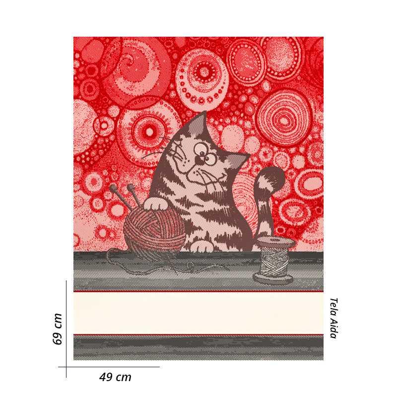 Gnomo Seduto Rosso-Grigio femmina