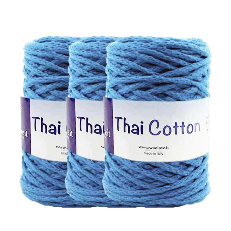 Promo 3 Fettucce Thai Cotton Celeste