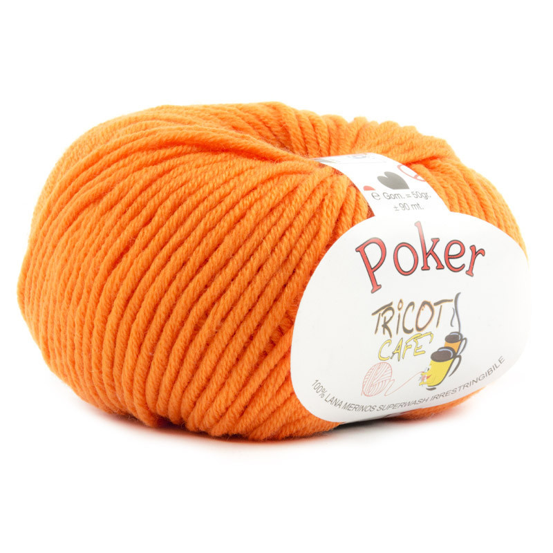 Poker - Filato Pura Lana Merinos Irrestringibile ideale per neonati - Arancione 18