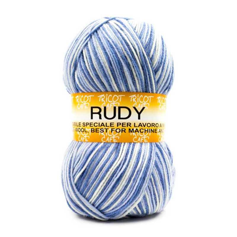 Rudy - Filato misto lana ideale per ogni tipo di lavorazione - Misto Azzurro 1107