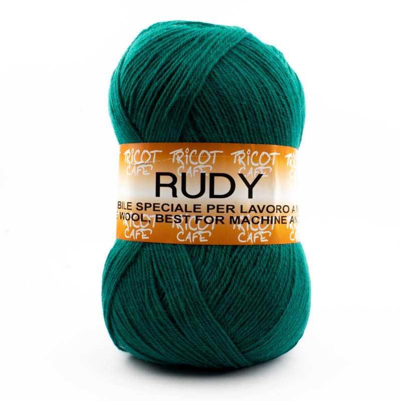 Rudy - Filato misto lana ideale per ogni tipo di lavorazione - Verde Bandiera 14