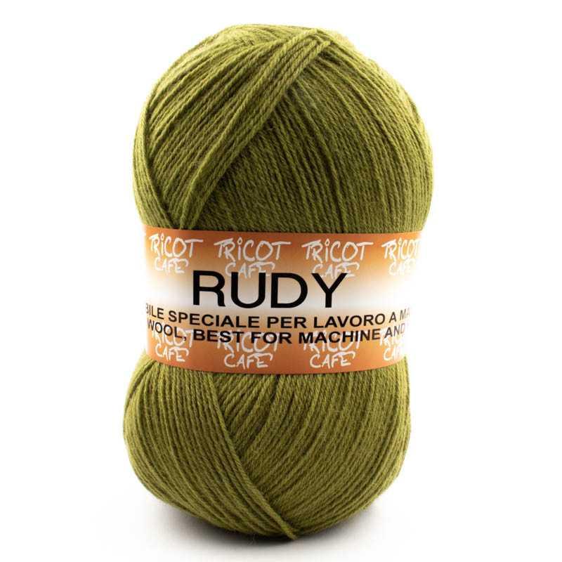 Rudy - Filato misto lana ideale per ogni tipo di lavorazione - Verde Muschio 462