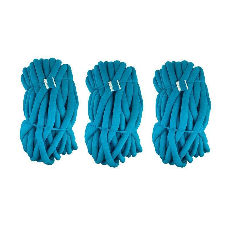Maxi Cotton 3 pz - Gomitolo Gigante Misto Cotone per lavori con le mani - Turchese 7