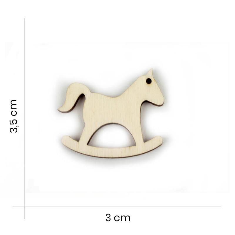 Forma Cavallo dondolo Legno