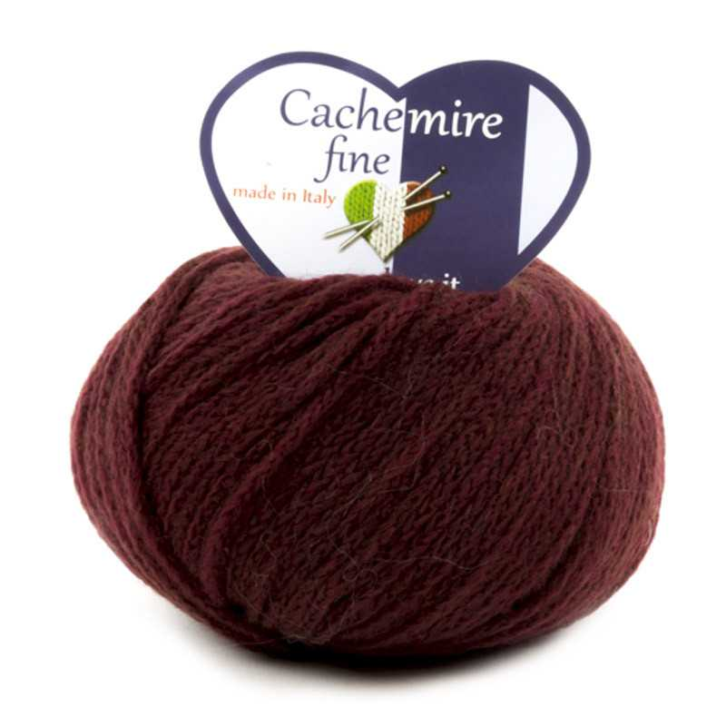 Cachemire Fine - filato misto lana merinos e cashmere - Bordeaux 65