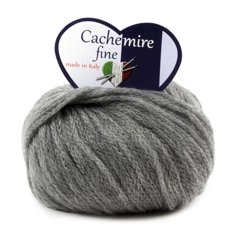 Cachemire Fine - Filato Misto Lana Merinos E Cachemire - Grigio 62