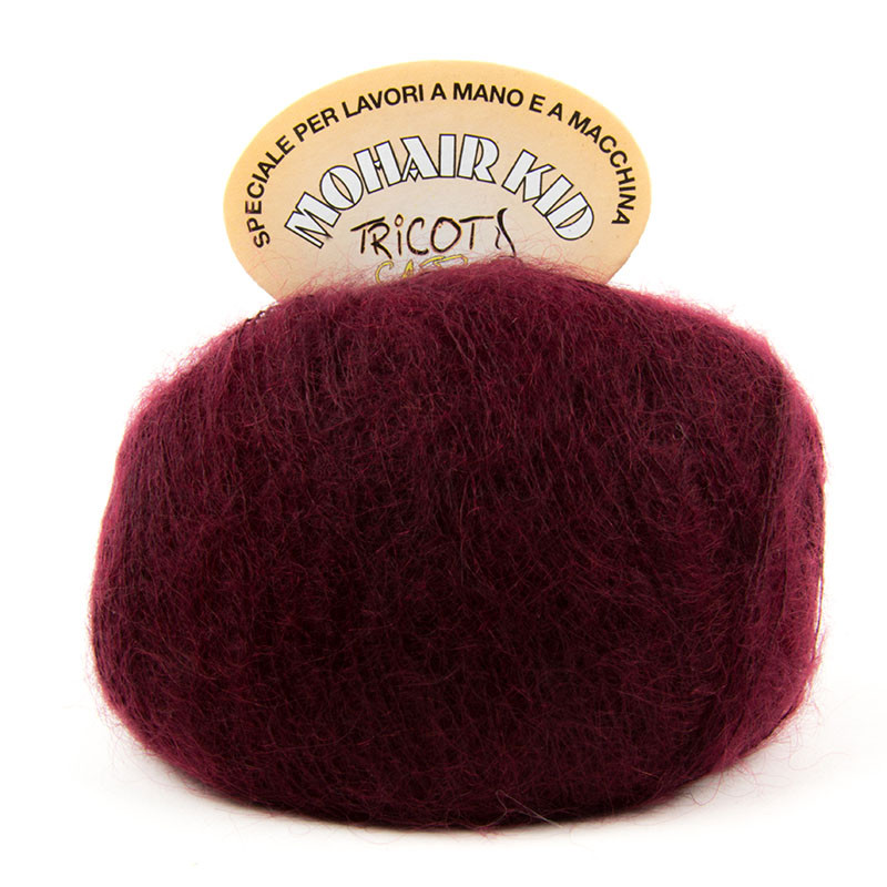 Mohair Kid Bordeaux
