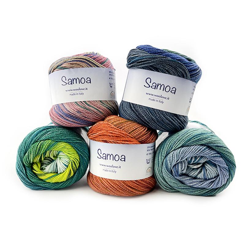 Samoa - Misto Cotone Organico e Soia ideale per lavori a maglia