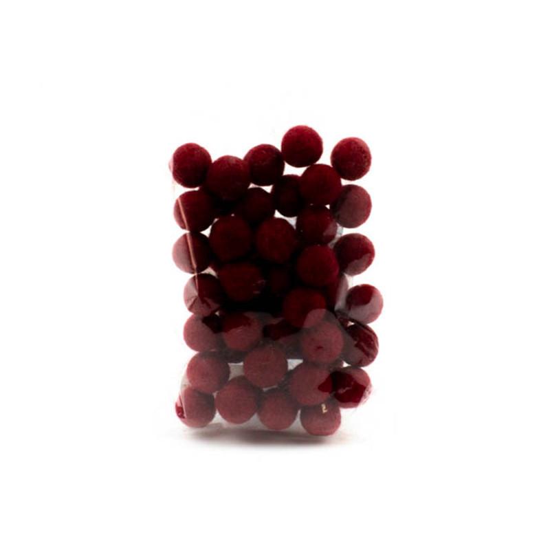 Palline Bordeaux 1,5cm