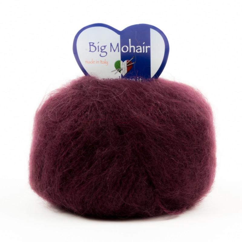 Big Mohair Bordeaux