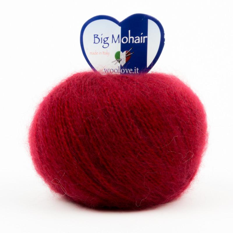Big Mohair Filato Misto Lana Ideale Per Neonati - Rosso Scuro 16