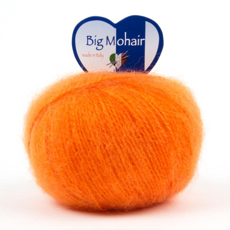 Big Mohair Filato Misto Lana Ideale Per Neonati - Arancione 165