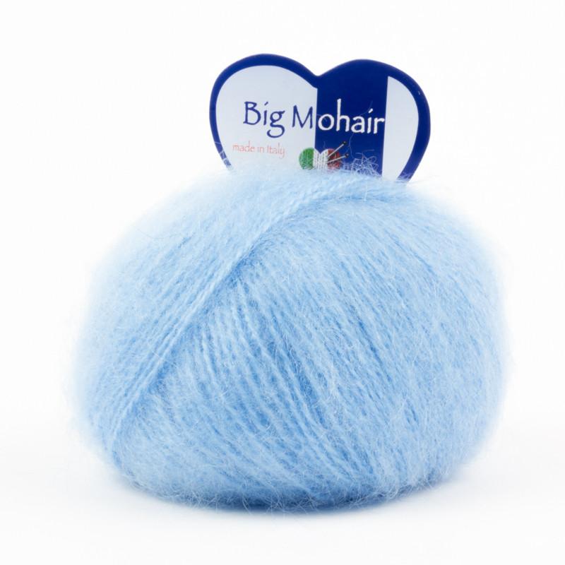 Big Mohair Filato Misto Lana Ideale Per Neonati - Azzurro 9