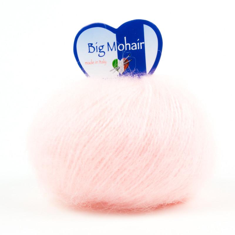 Big Mohair Filato Misto Lana Ideale Per Neonati - Rosa Baby 4